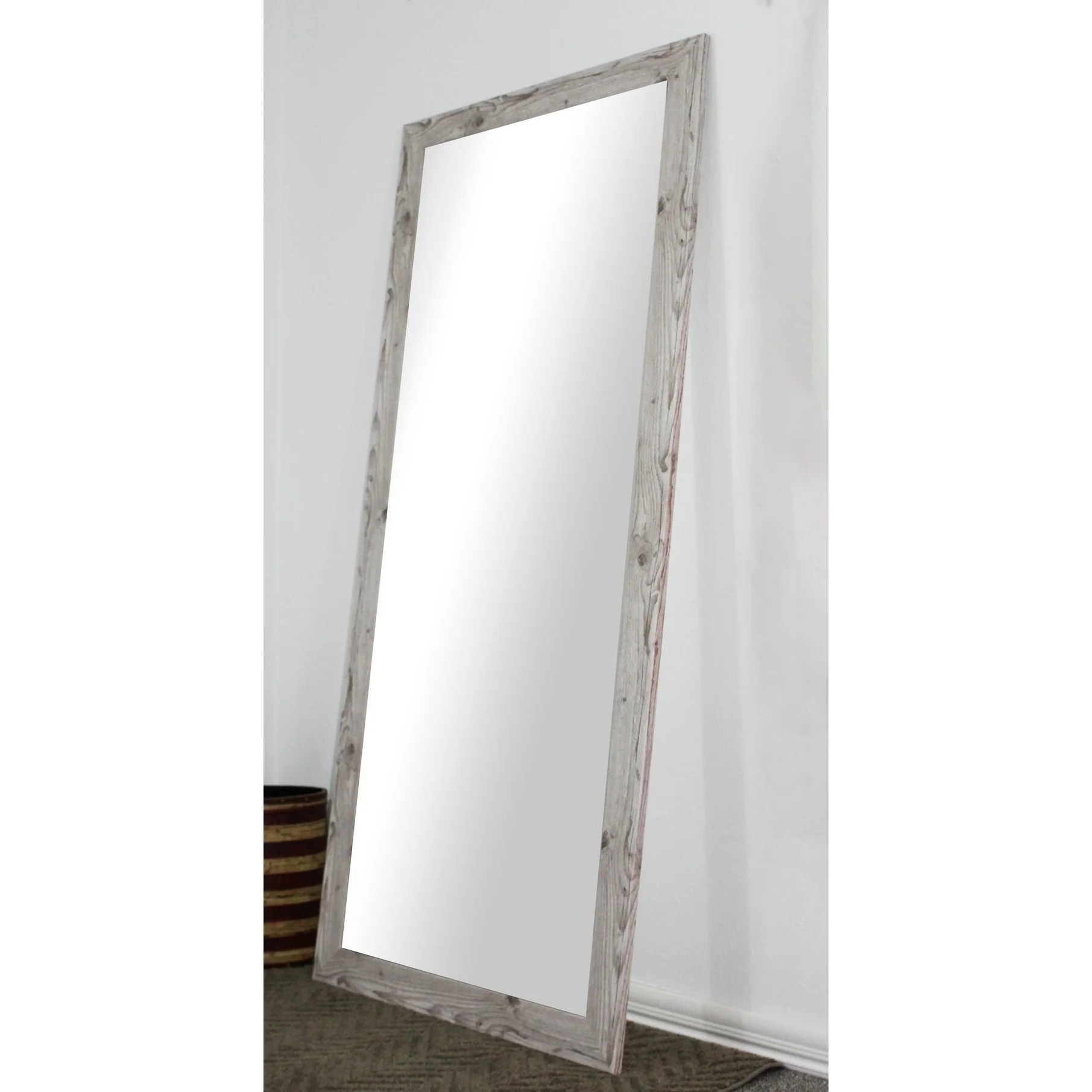 White Floor Mirror Details About U S Made Full Body Floor Mirror White Washed