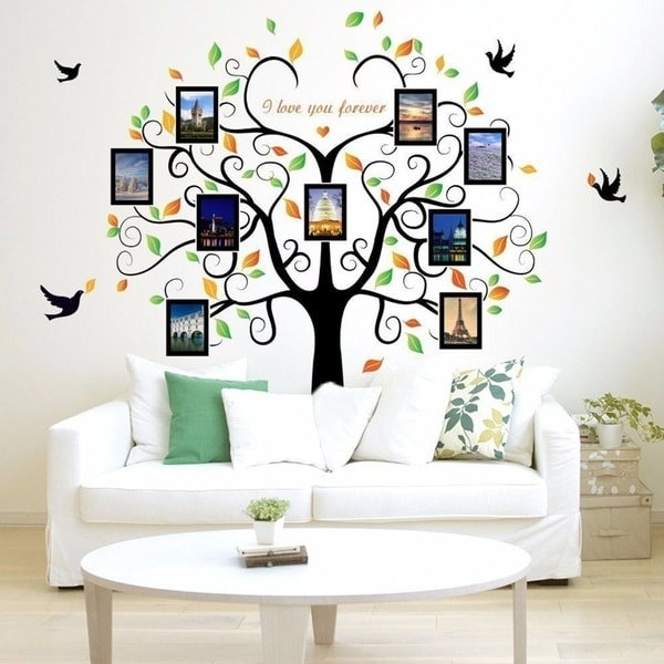 Fototapete Selber Gestalten Shop Family Tree Wall Decal 9 Large Photo Pictures Frames