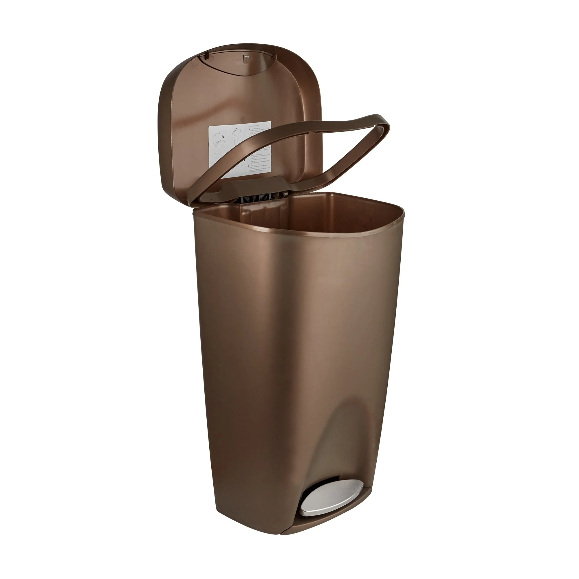 Rose Gold Trash Can Copper Trash Can With Lid Home Ideas