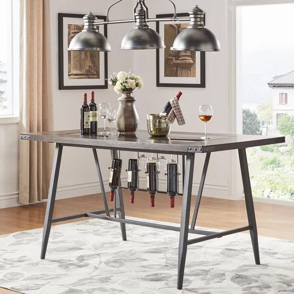 Shop Harley Counter Height Dining Table With Wine Rack By