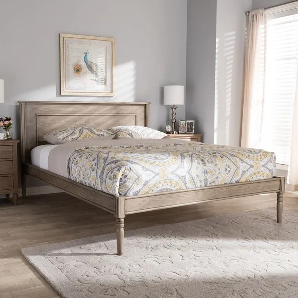 Shop Maison Rouge Dylan Weathered Grey Finished Wood Bed