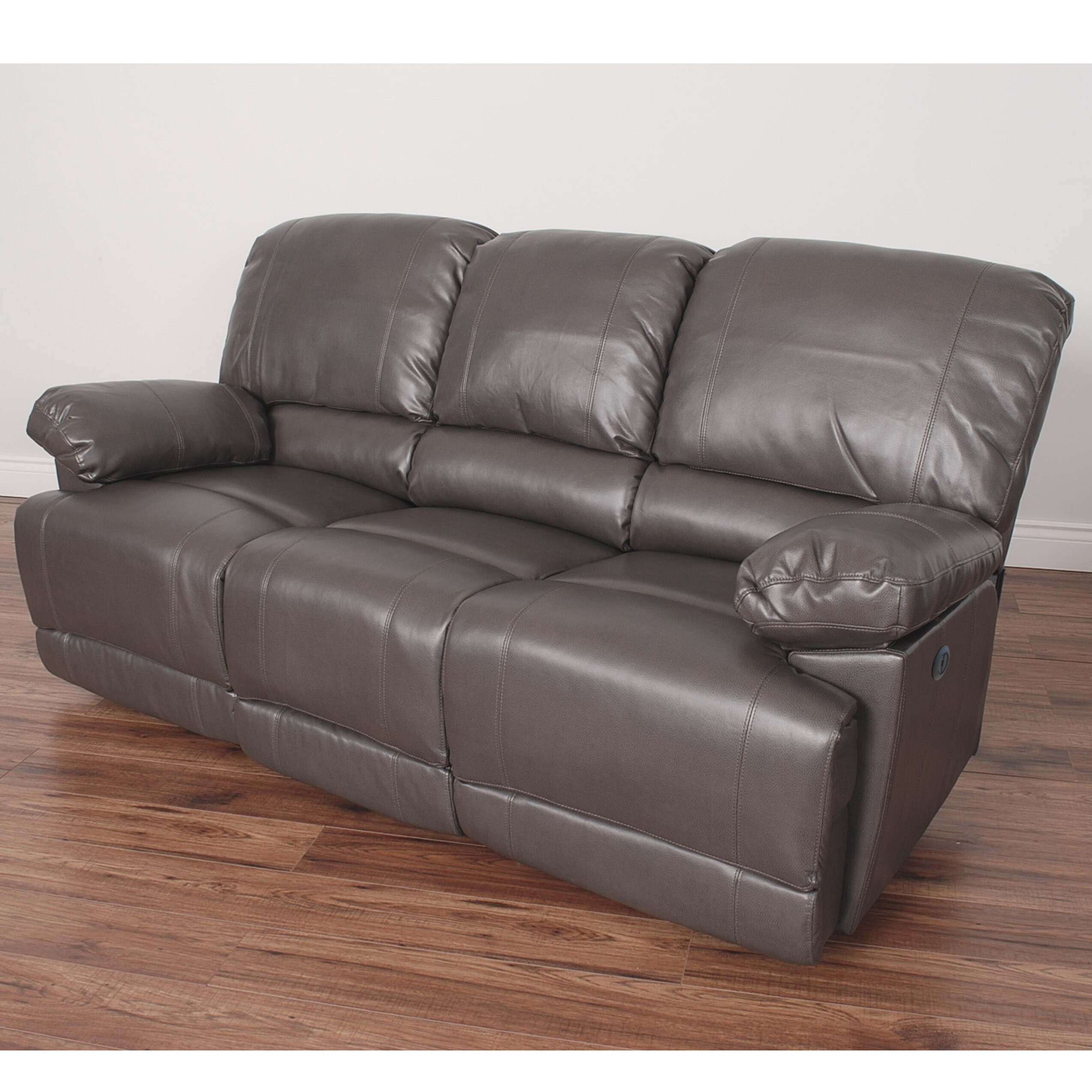 Sofa Relax Con Usb Detalles Acerca De Corliving Lea Bonded Leather Power Reclining Sofa With Usb Port