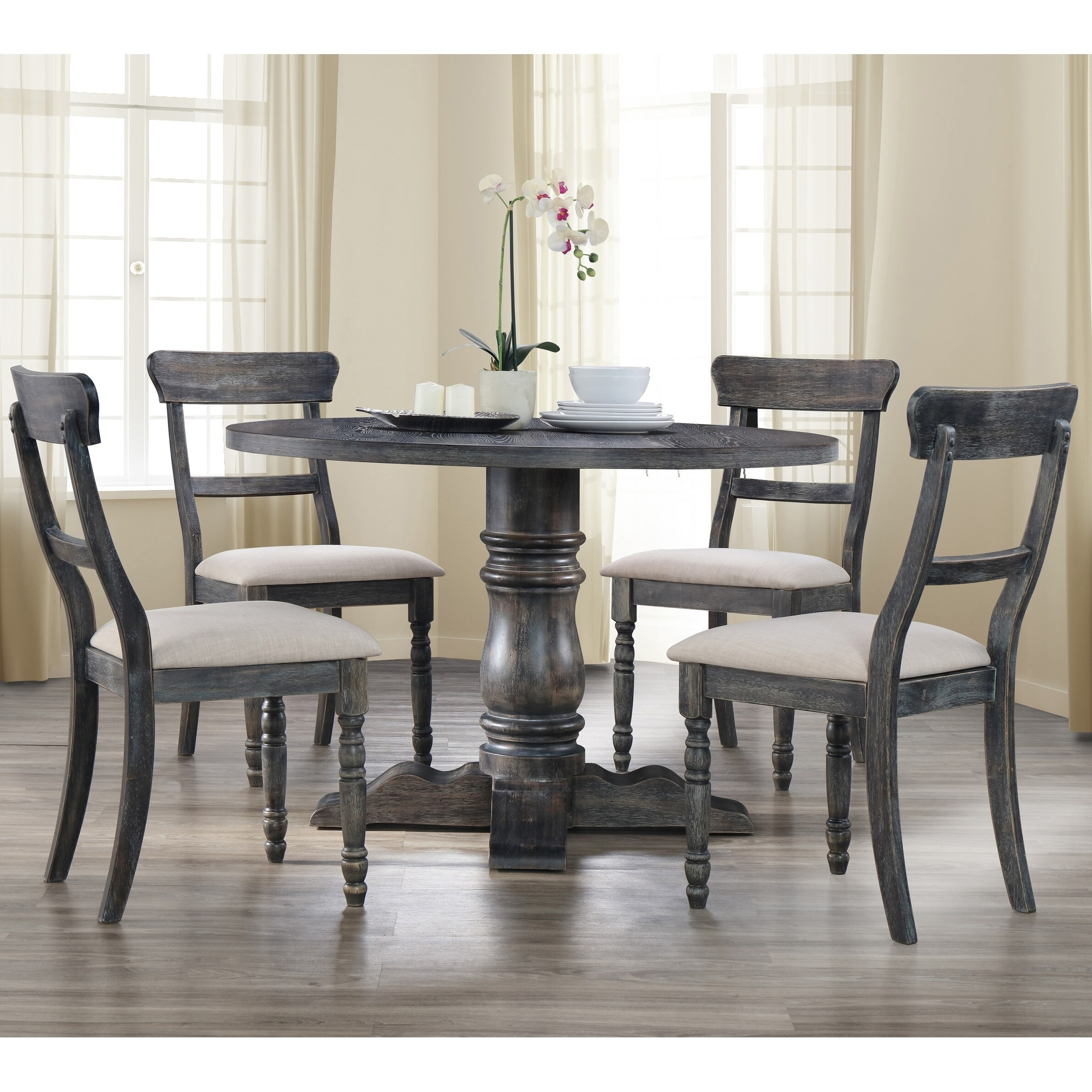 Shop For Best Master Furniture Weathered Grey 5 Piece Dinette Set Get Free Delivery On Everything At Overstock Your Online Furniture Shop Get 5 In Rewards With Club O 20012330