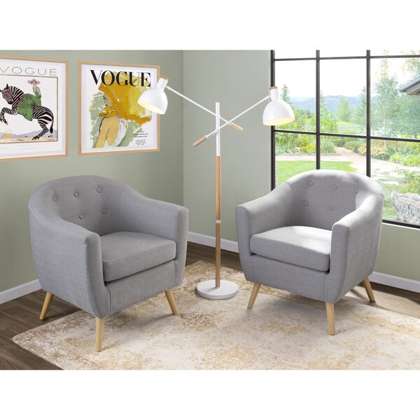 Shop Strick Bolton Shearing Mid Century Modern Accent - Designer Accent Chairs On Sale