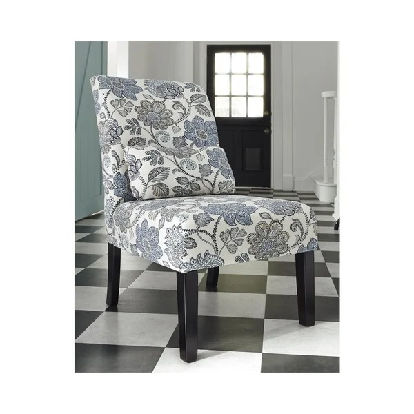 Shop Signature Design By Ashley Sesto Cream Blue Floral - Designer Accent Chairs On Sale