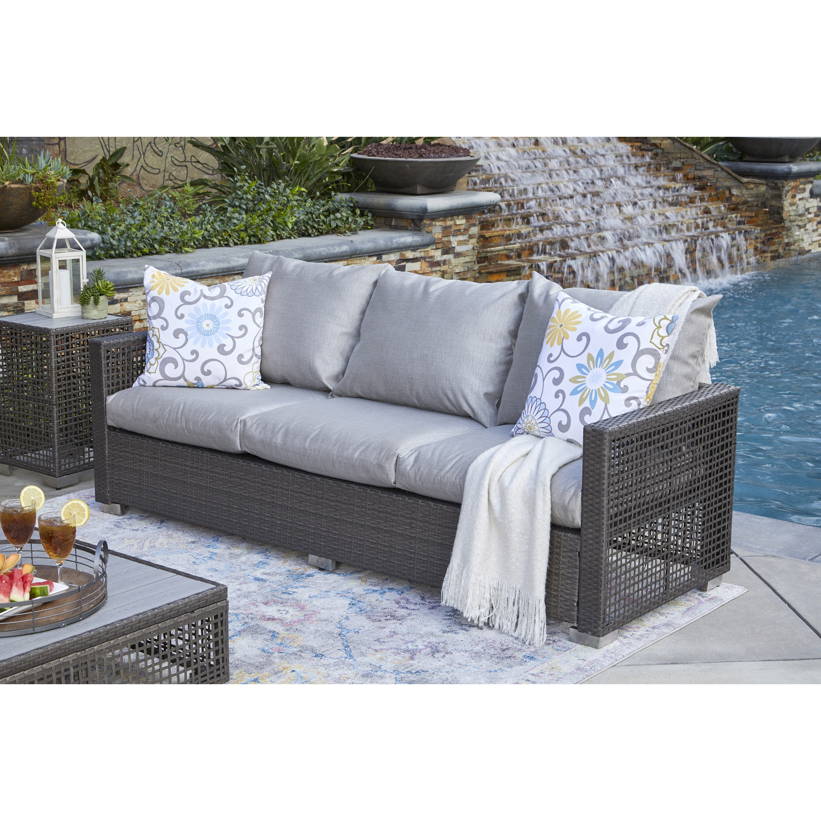 Florence 8 Piece Rattan Sofa Set With Cushions Rattan Sofa Grey Cushions Taraba Home Review