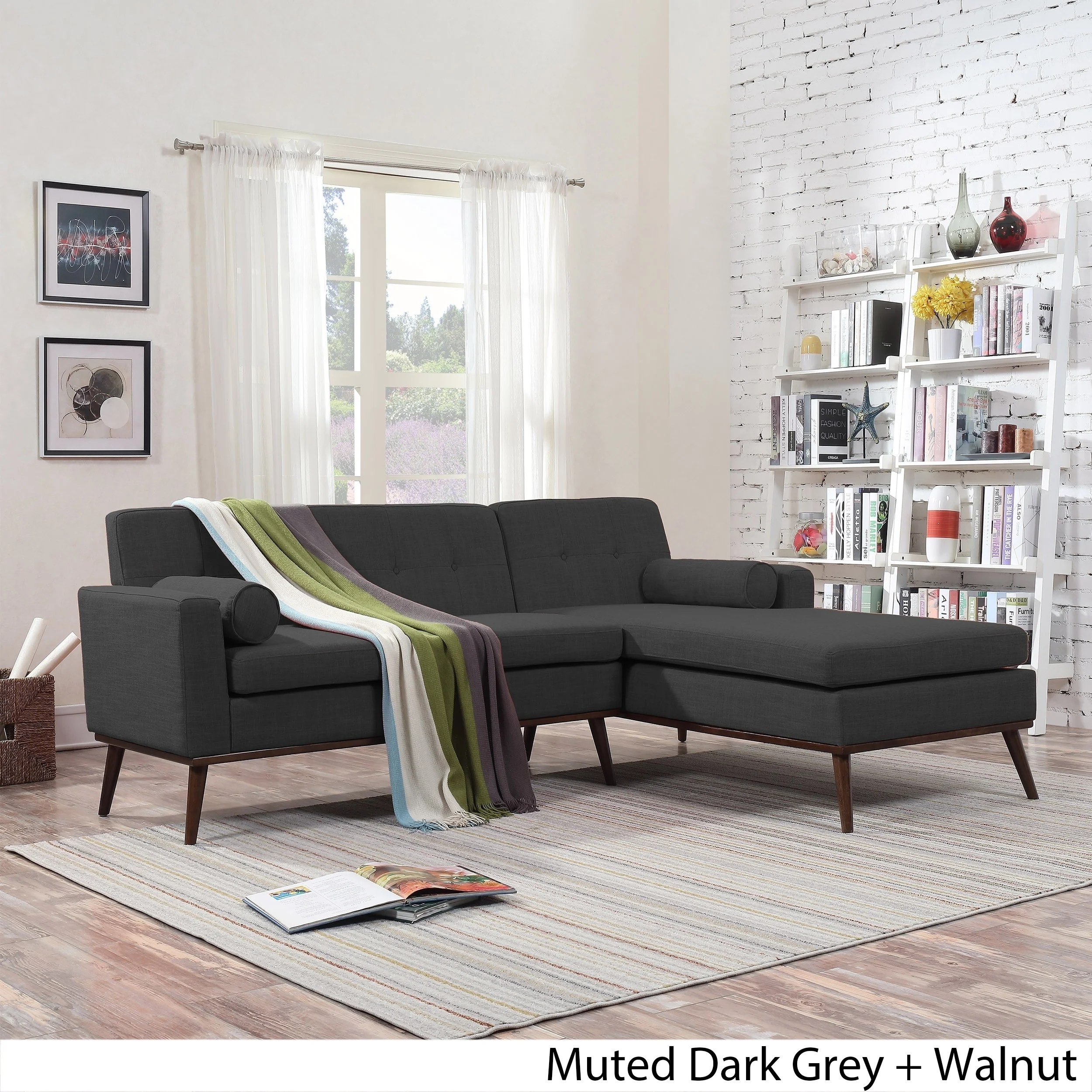 Modern Lounge Details About Stormi Mid Century Modern 2 Piece Mut Sectional Sofa And Lounge Set By