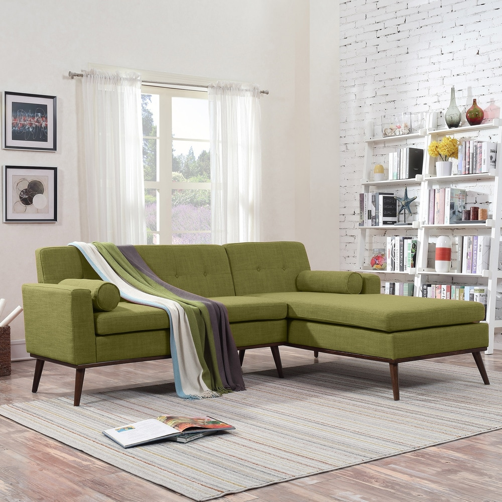 Stormi Mid Century Modern 2 Piece Mut Sectional Sofa And Lounge Set By Christopher Knight Home On Sale Overstock 20889553