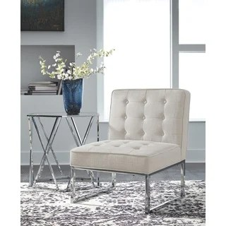 Shop Signature Design By Ashley Cimarosse Ivory Fabric And - Designer Accent Chairs On Sale
