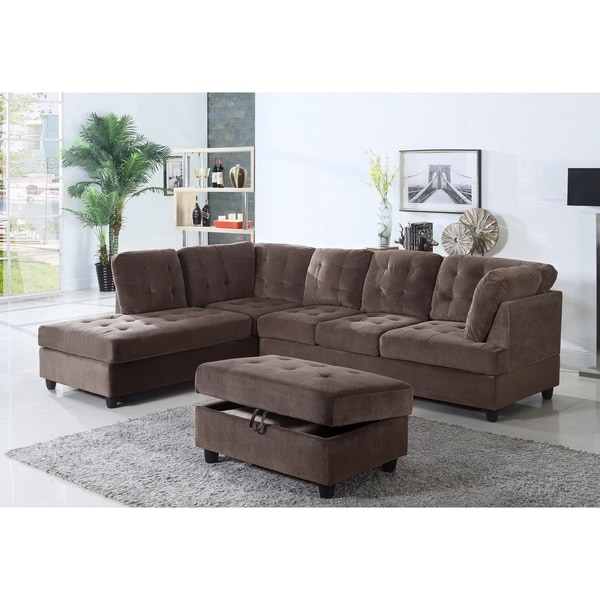 Corduroy Sofa Sectional Shop Golden Coast Furniture Brown Corduroy Fabric