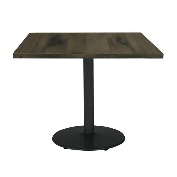 Shop KFI Urban Loft Square Office Table, Round Black Base, 30in