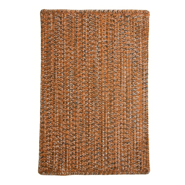 Shop Capel Rugs Team Spirit Orange Grey Hand-Braided Vertical Stripe