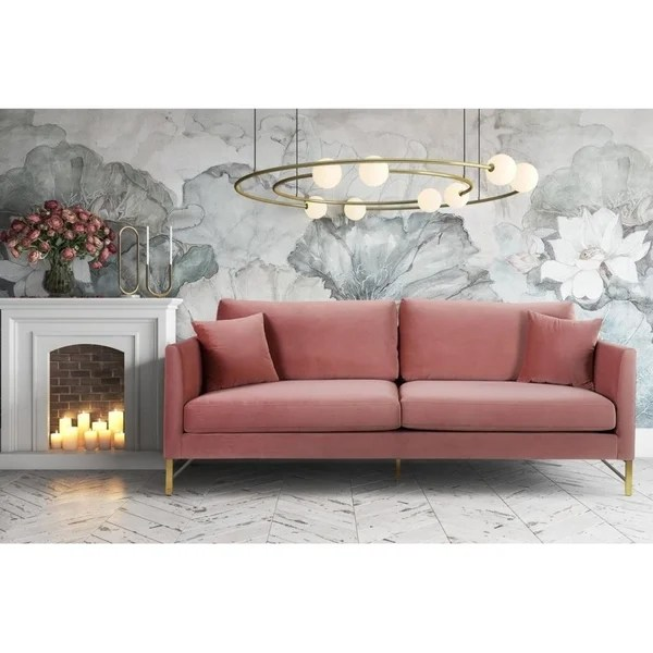 Rosa Couch Shop Massi Rose Velvet Sofa - Free Shipping Today ...