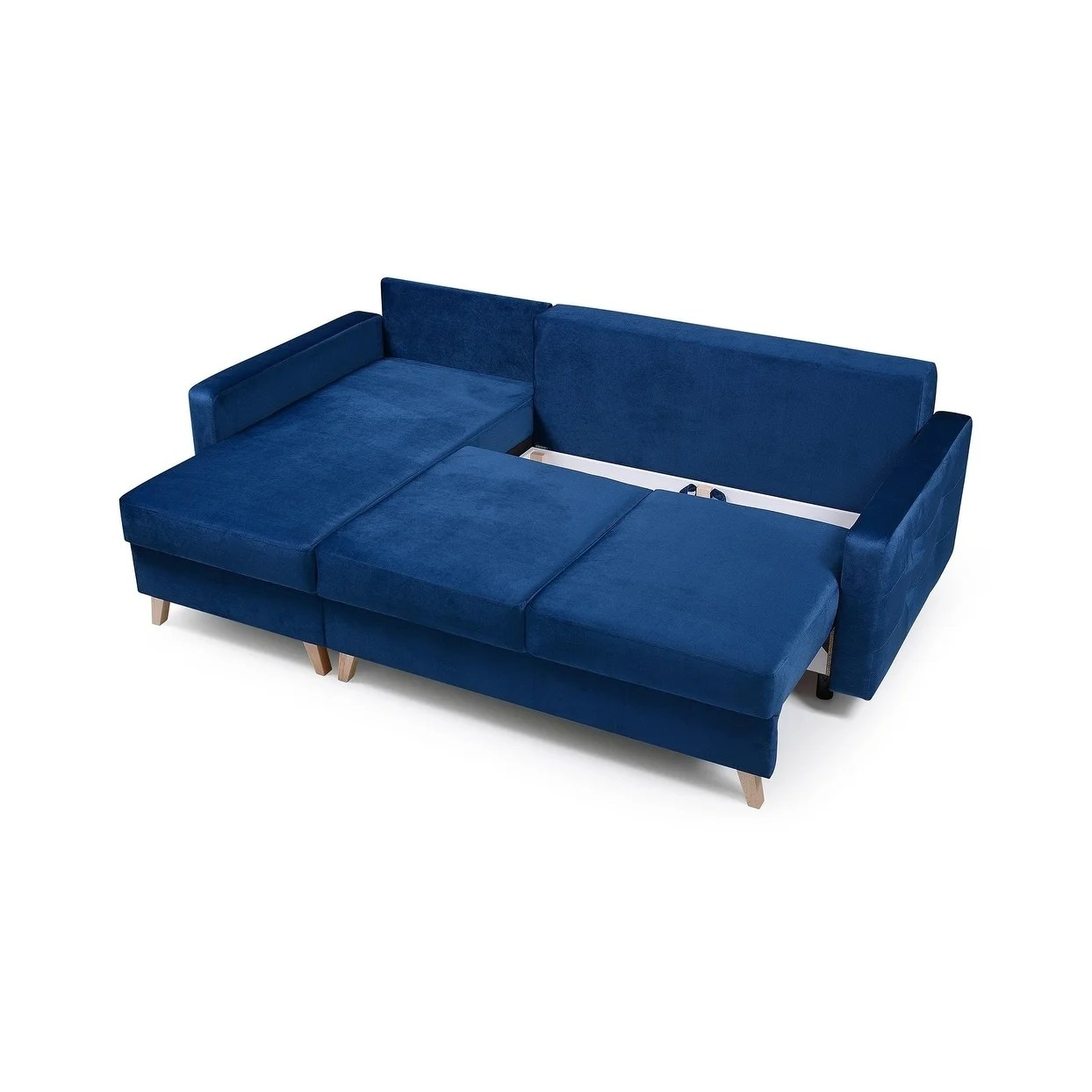 Vegas Futon Sectional Sofa Bed Queen Sleeper With Storage On Sale Overstock 23558765 Navy