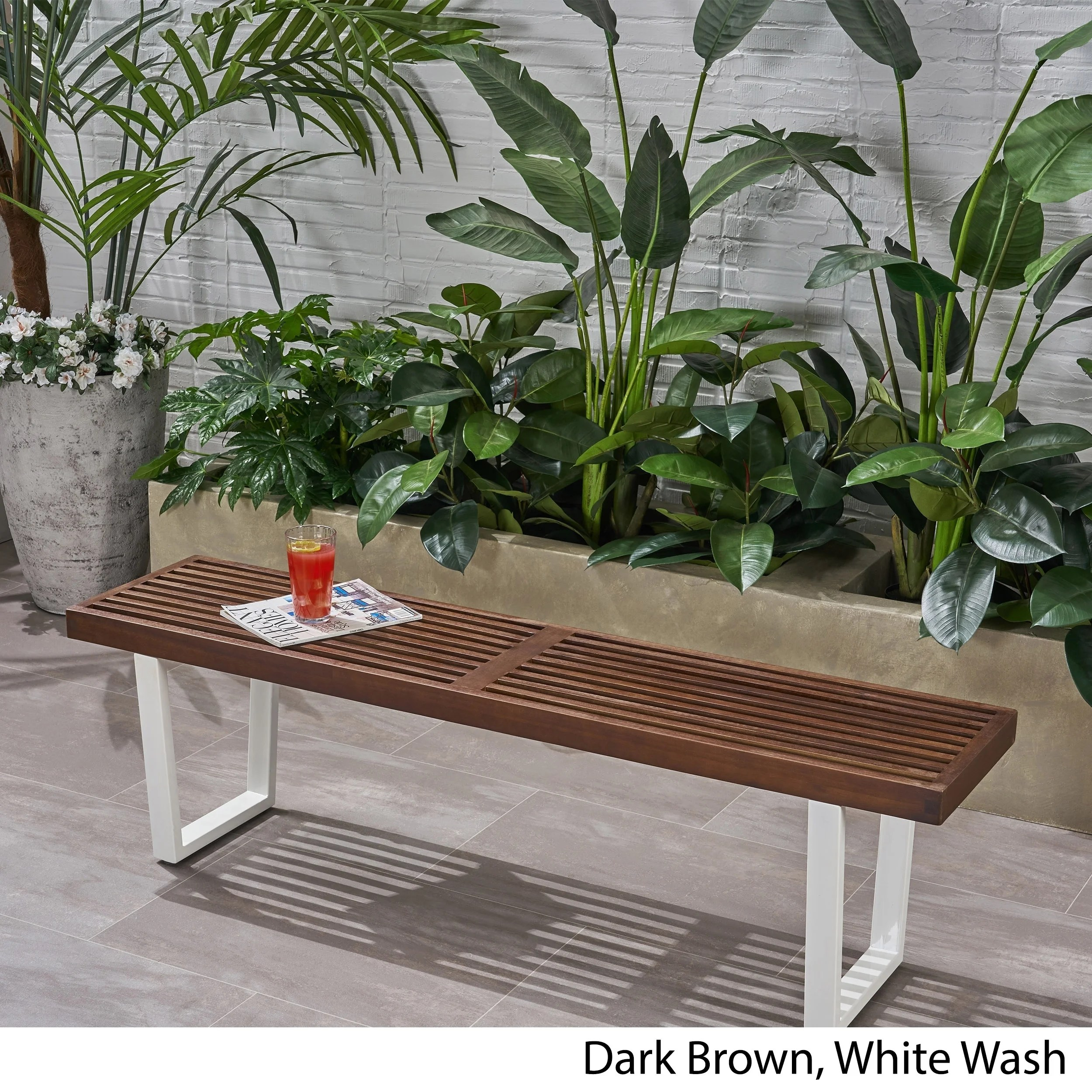 Fresno Outdoor Acacia Wood Dining Bench By Christopher Knight Home On Sale Overstock 24242335