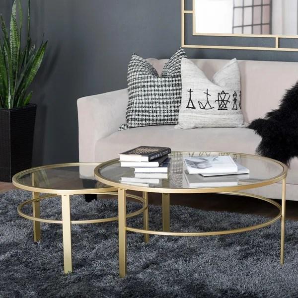 Shop Studio Designs Home Corbel Modern Round Nesting Coffee Table