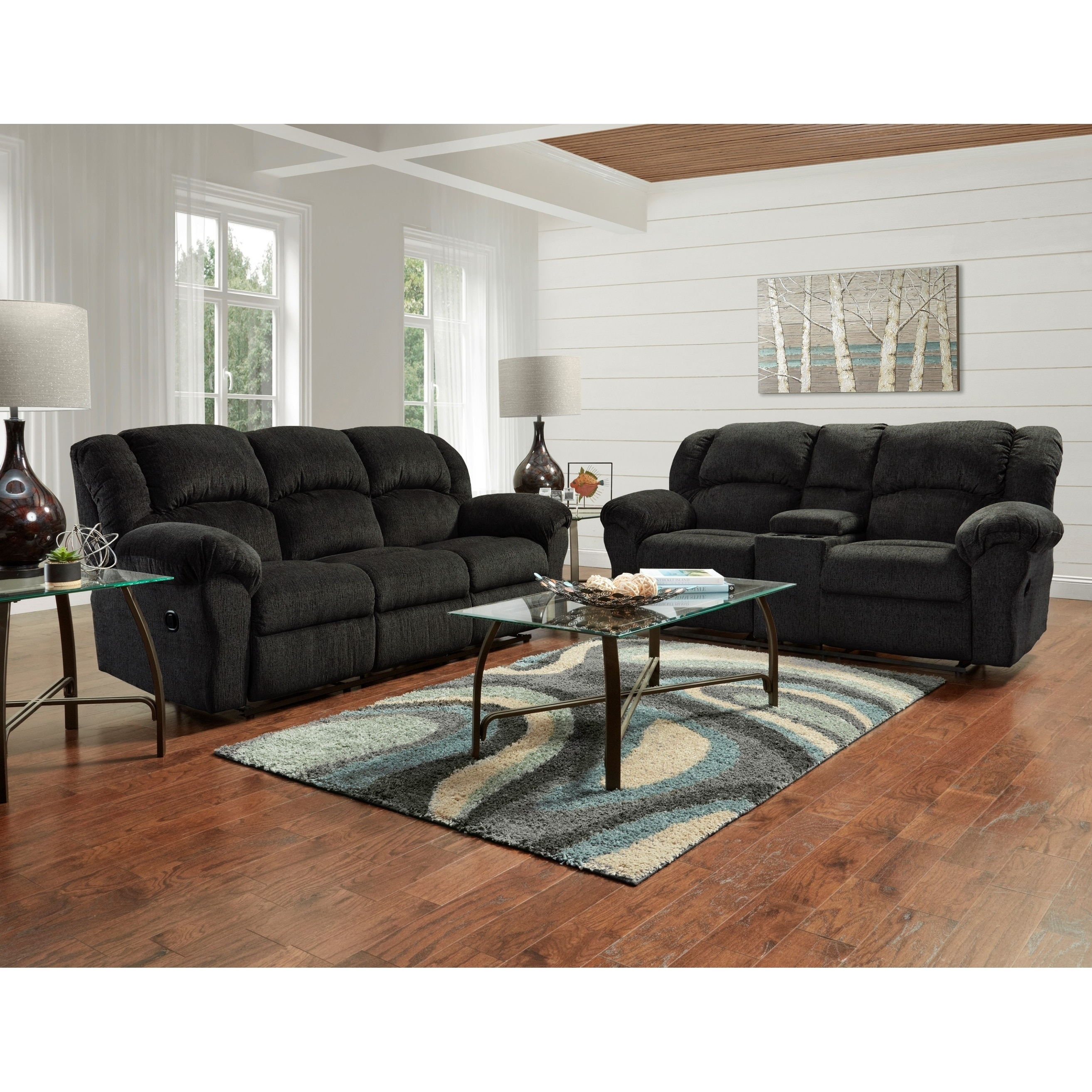 Dual Reclining Microfiber Sofa And Loveseat Set Allure Grey On Sale Overstock 25572333