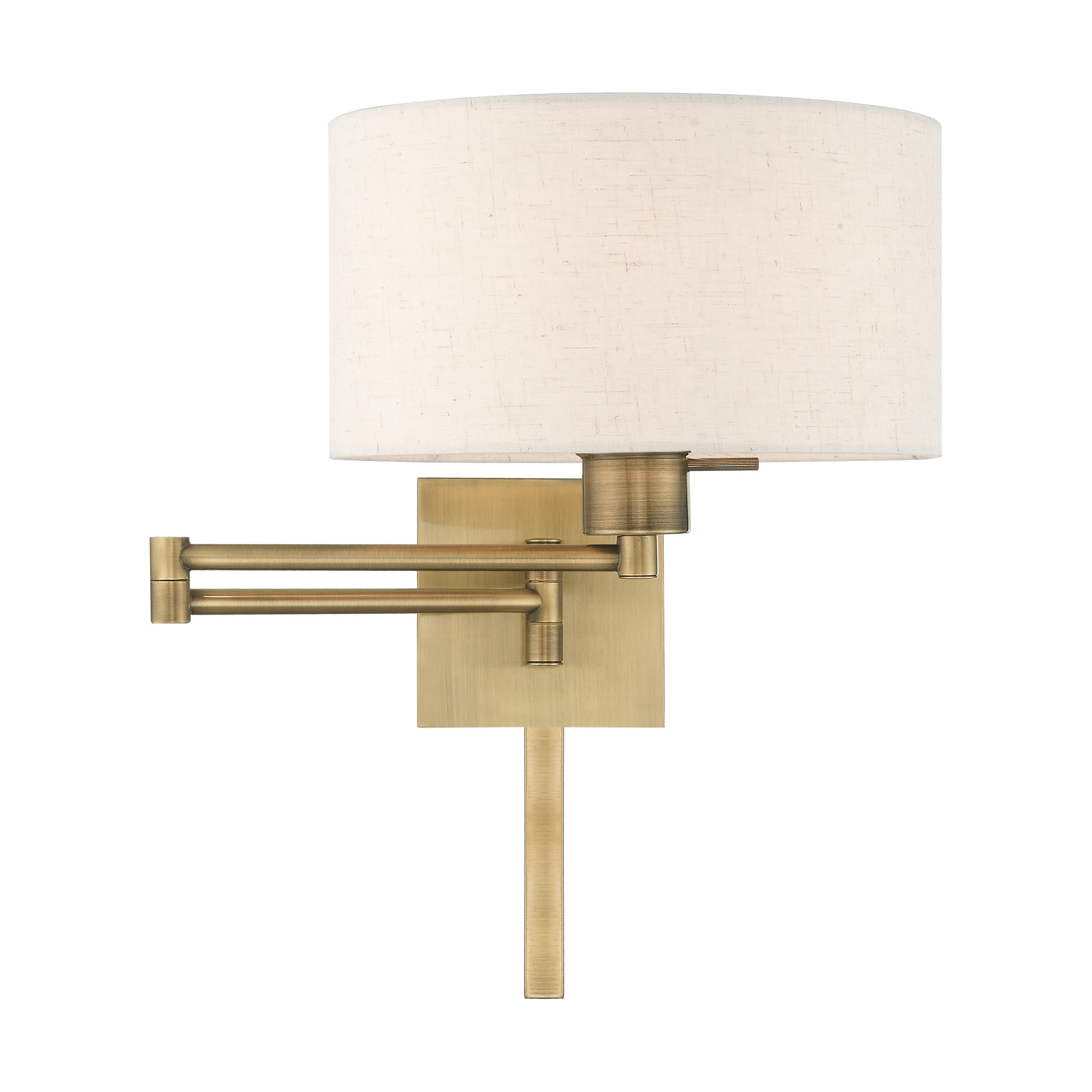 Swing Wall Lamp Details About Livex Lighting 1 Light Oatmeal Drum Shade Swing Arm Wall Lamp 11 W X 11 H X