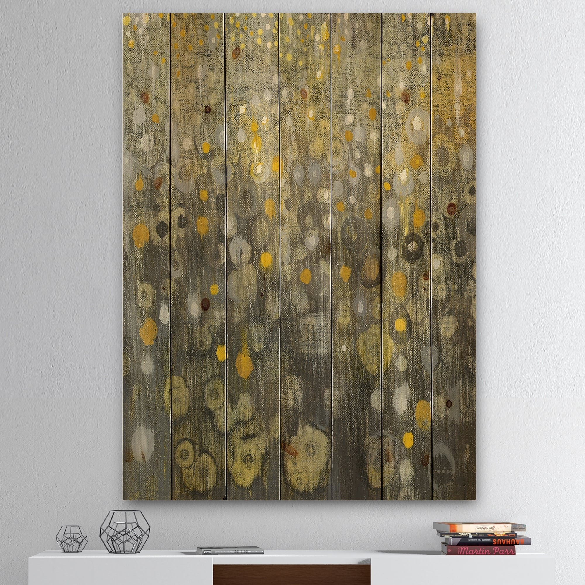 Abstract Wood Wall Art Details About Designart Rain Abstract V Modern Glam Print On Natural Pine Wood Grey