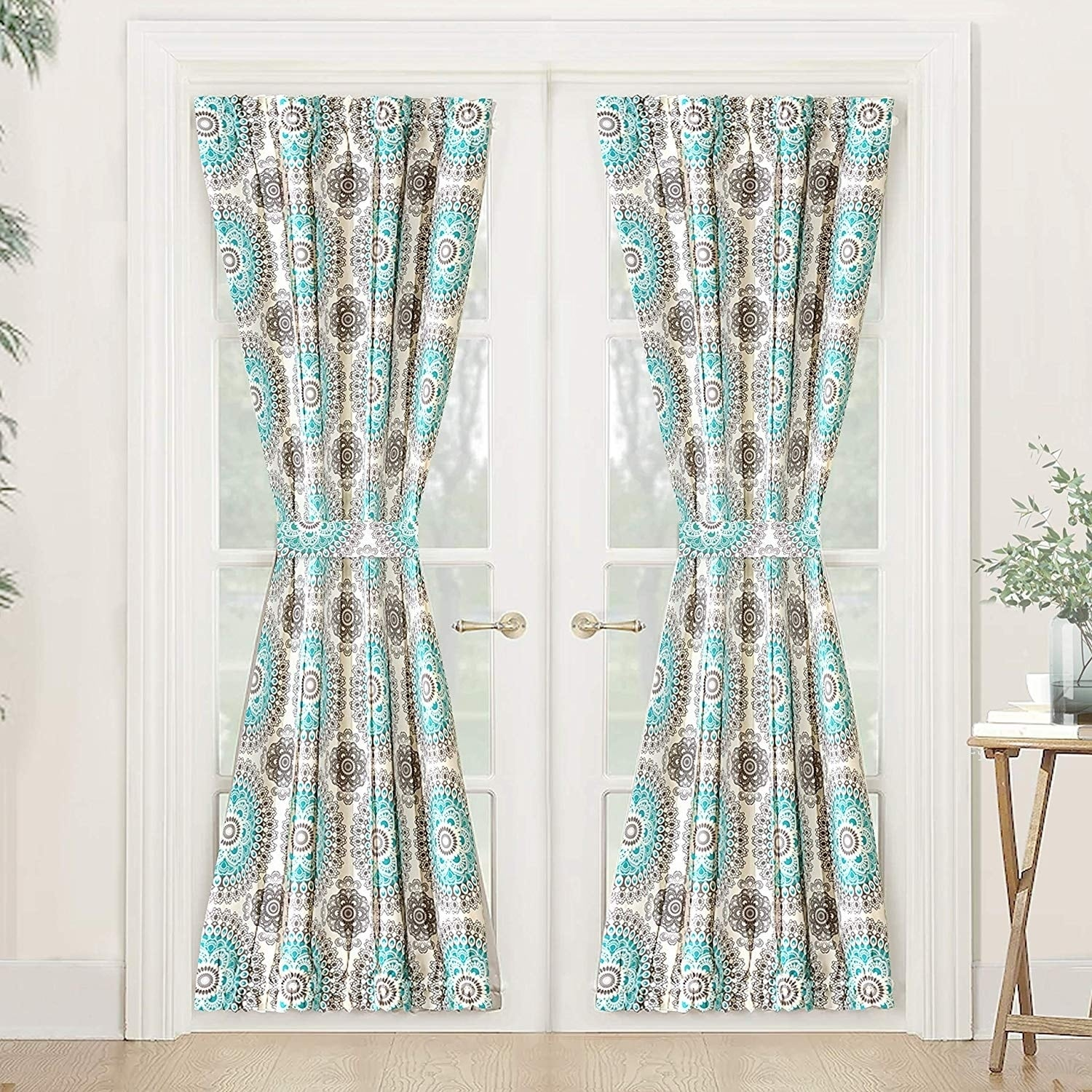 Curtains Pelmets French Style Rod Pocket Door Panel Blackout Curtain Thermal Insulated Panel Home Furniture Diy 5050 Pk