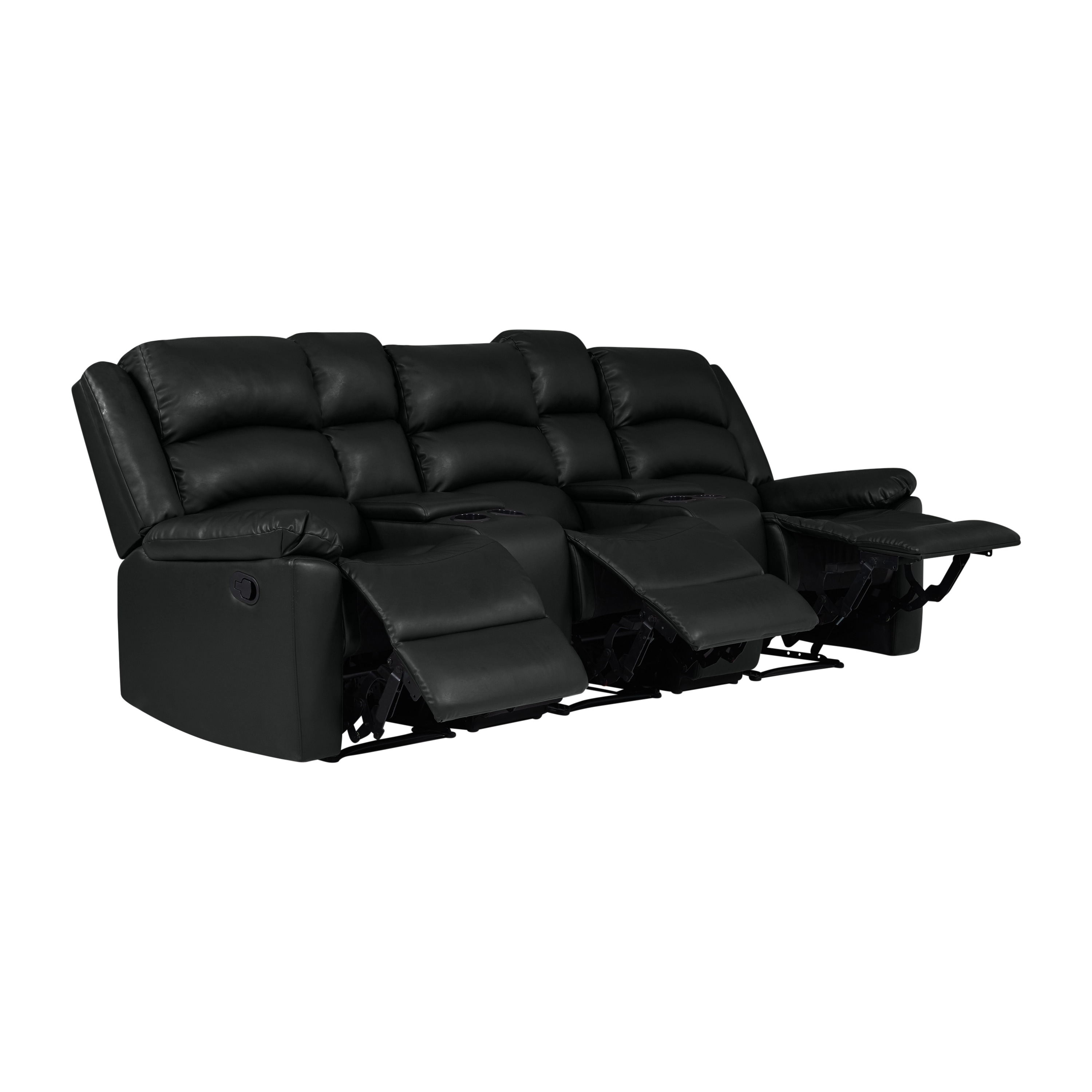 Recliner Pillow Details About Prolounger 3 Seat Pillow Top Arm Recliner Sofa With Power Storage Console