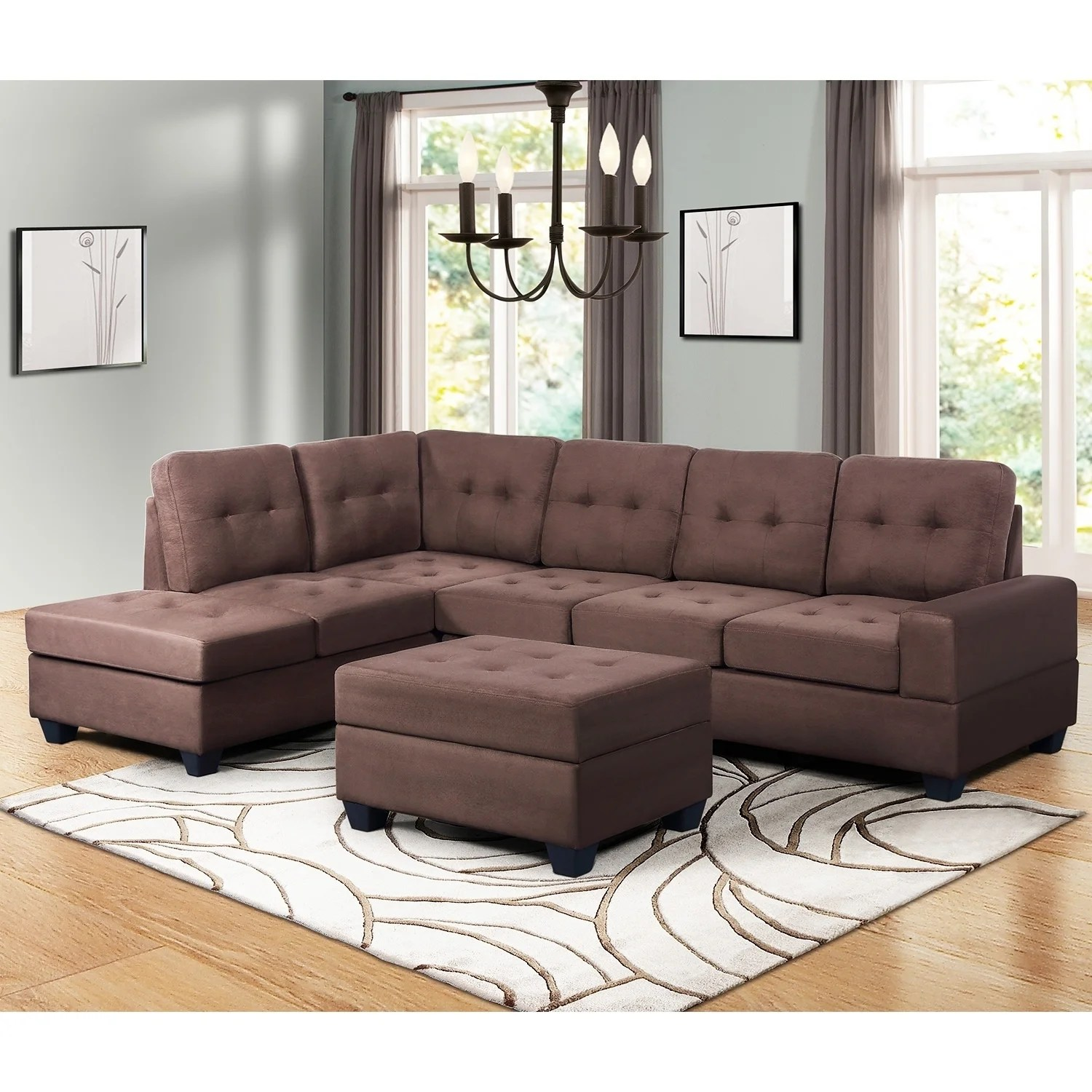 Microfiber Sectional Sofa Buy Grey Microfiber Sectional Sofas Online At Overstock Our