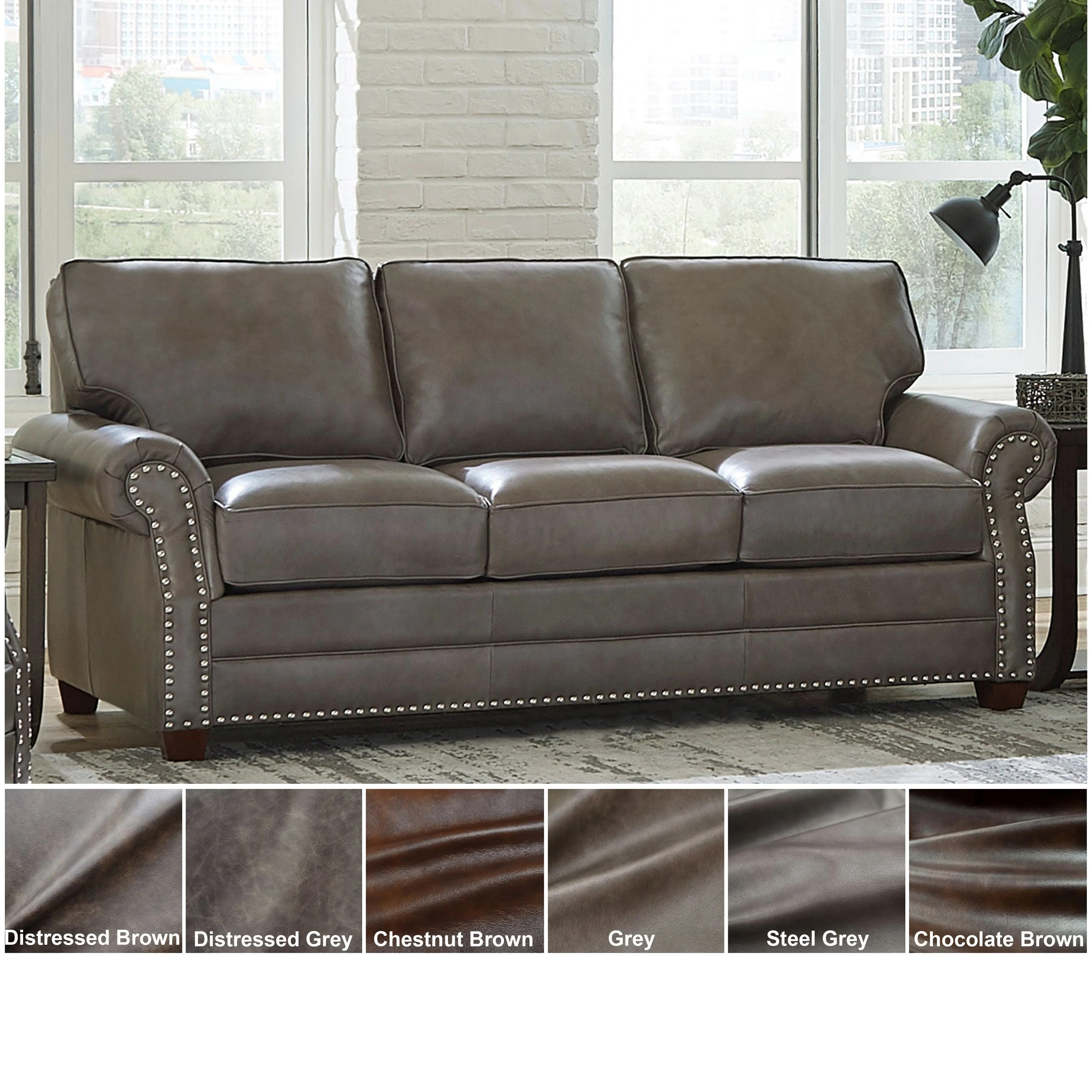 Barlow White Leather Sofa And Loveseat Set Buy Rolled Arms Leather Sofas Couches Online At Overstock Our