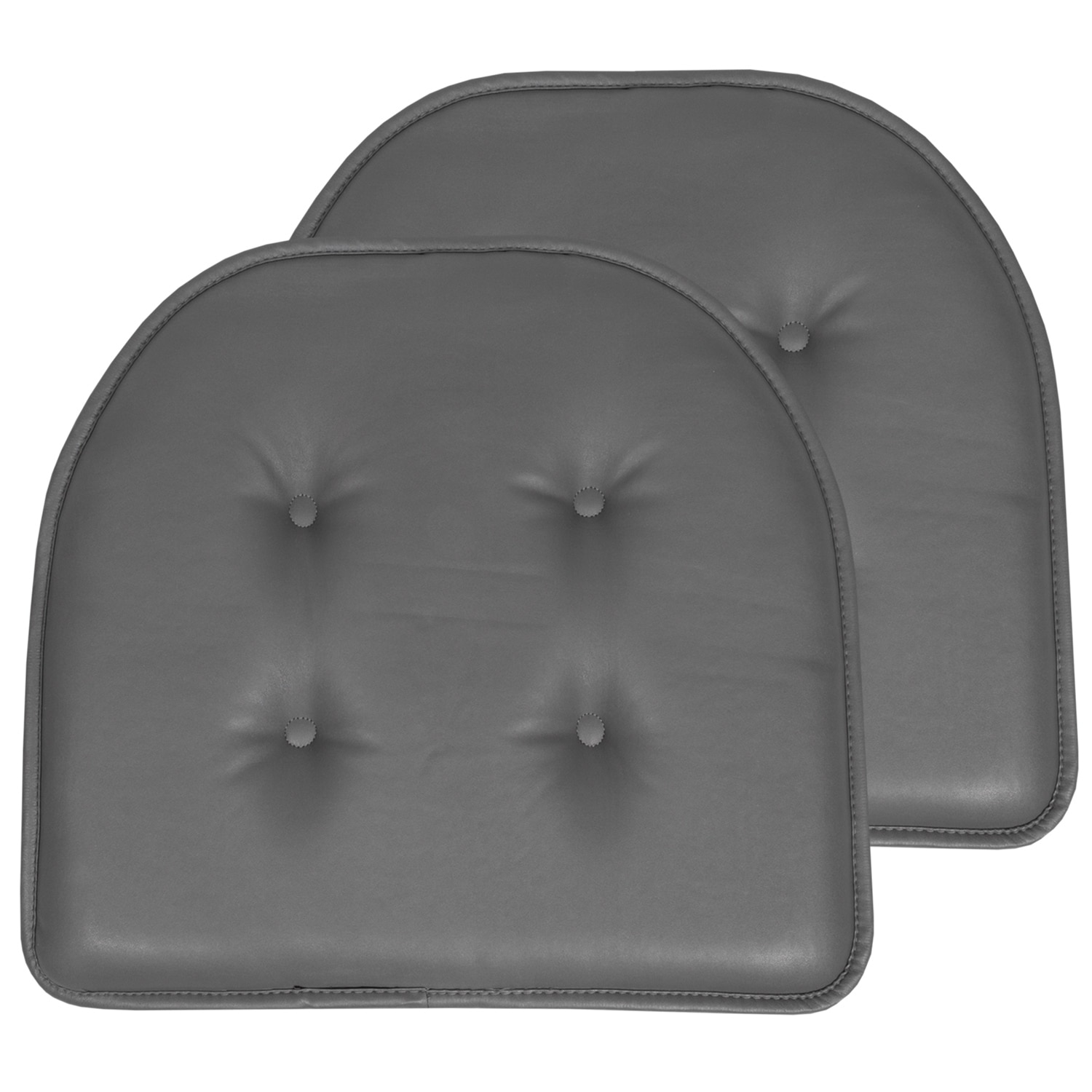 U Shaped Faux Leather Memory Foam Chair Pads Overstock 29655530