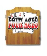 Trademark Games King's Head Value Dartboard Cabinet Set ...