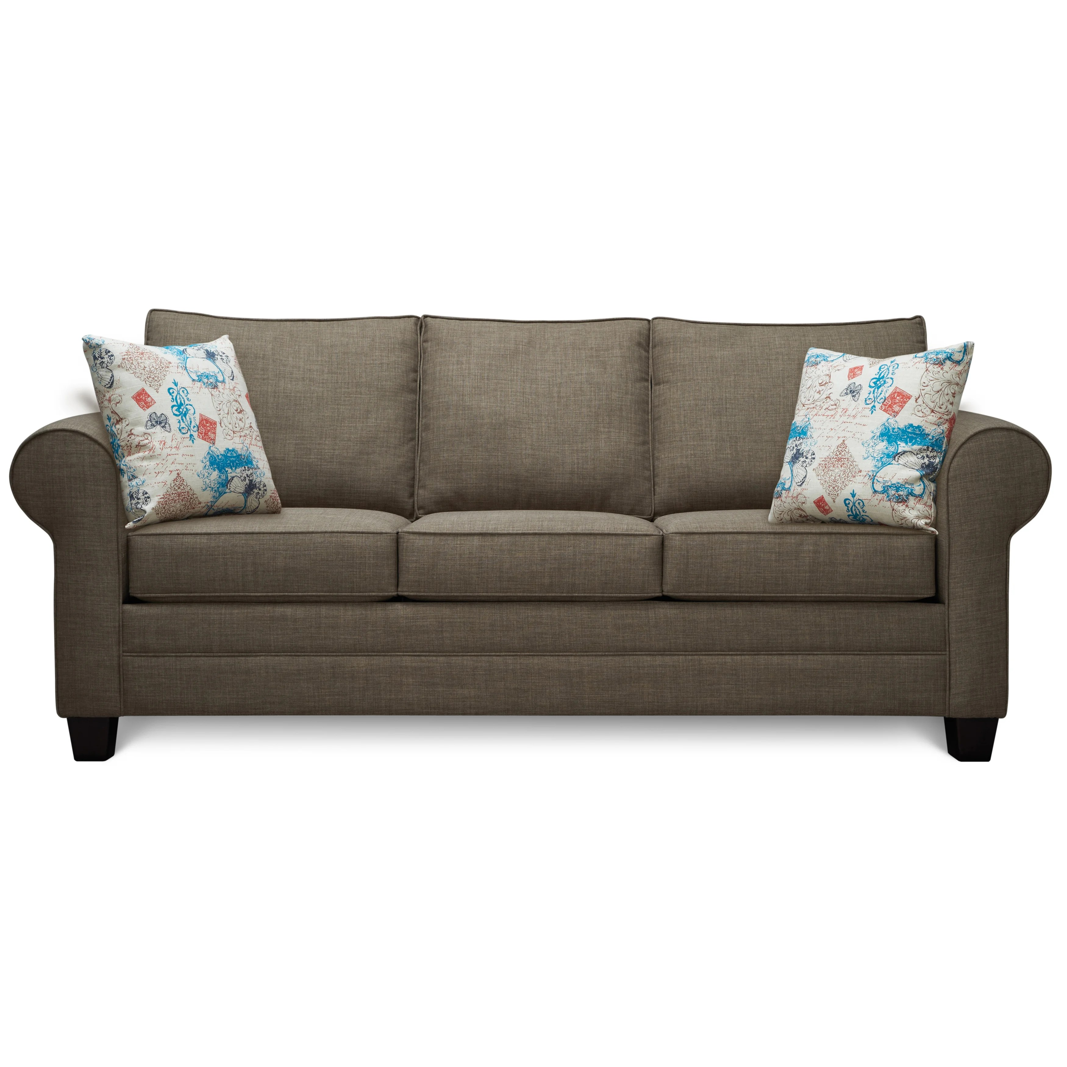 Sofa Take Home Today Art Van Saxon Stone Sofa With Accent Pillows