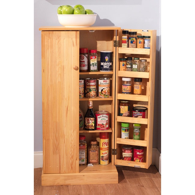 kitchen cabinet pantry pine standing storage home cupboard furniture kitchen storage furniture cebufurnitures