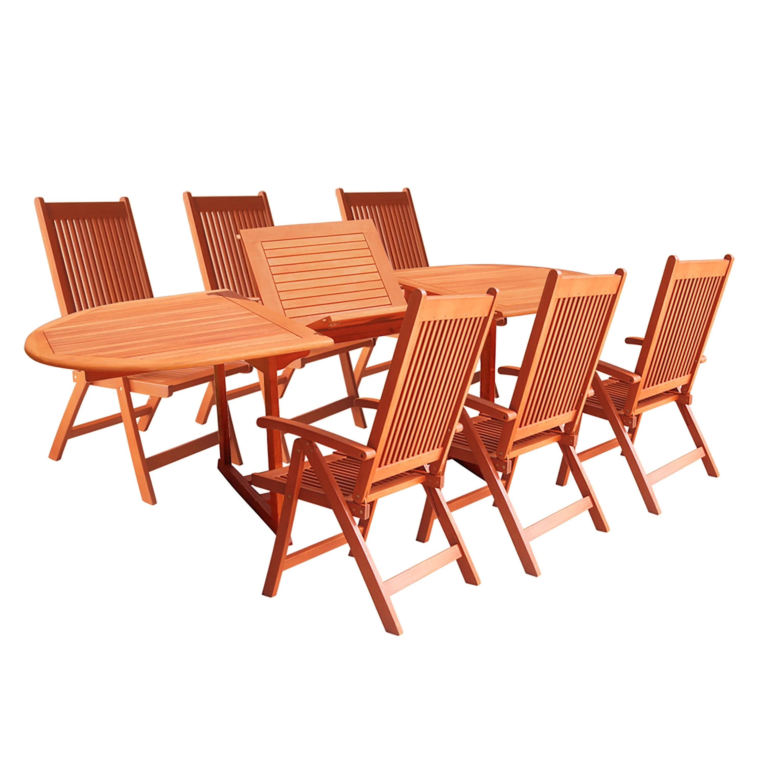 7 Piece Patio Set Shop Vista 7 Piece Patio Dining Set Free Shipping On Orders Over