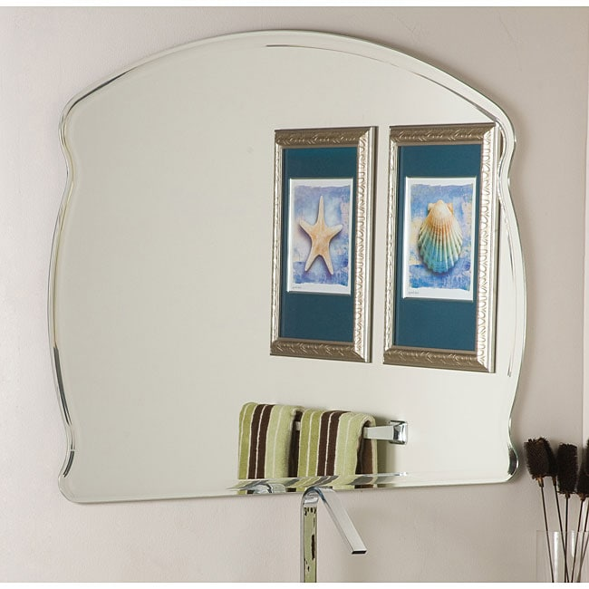 Frameless wide wall mirror free shipping today
