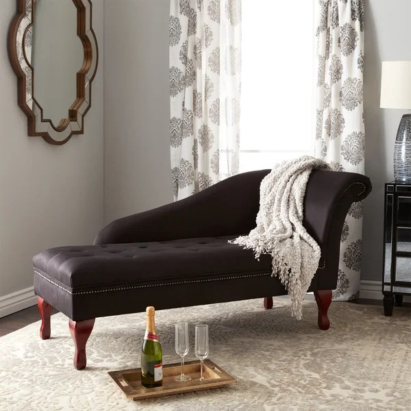 Simple Living Chaise Lounge with Storage Compartment - Free - living room chaise lounge