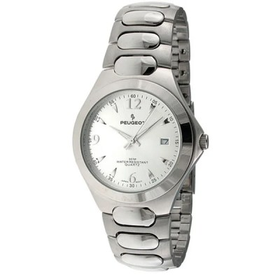 Peugeot Men's Silvertone Watch - 11658028 - Overstock.com Shopping - Big Discounts on Peugeot ...