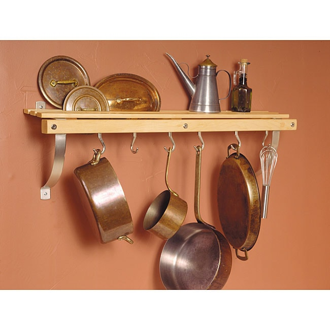 Eleanor Kitchen Island J.k. Adams Wall-mounted Natural Wood Pot Rack - Free