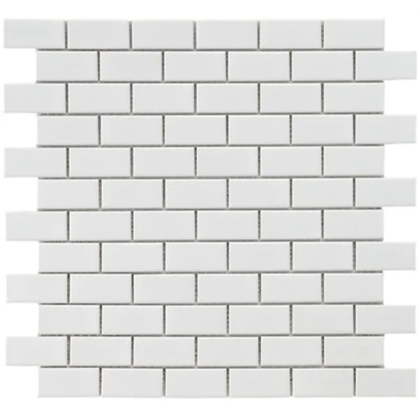 Glazed Subway Tile SomerTile 11.75x11.75-in Victorian Subway 1x2-in White ...