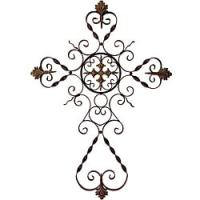 Provence Filigree Metal Wall Cross - 13015993 - Overstock ...