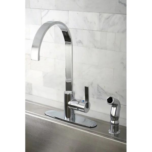 kingston brass continental modern chrome centerset kitchen faucet contemporary solid brass kitchen faucet chrome finish faucetsmall