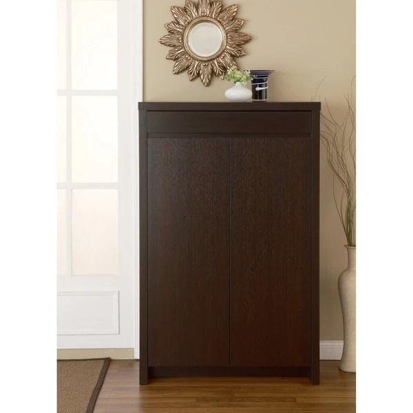 Furniture Of America Studio 5 Shelf Red Cocoa Shoe Cabinet