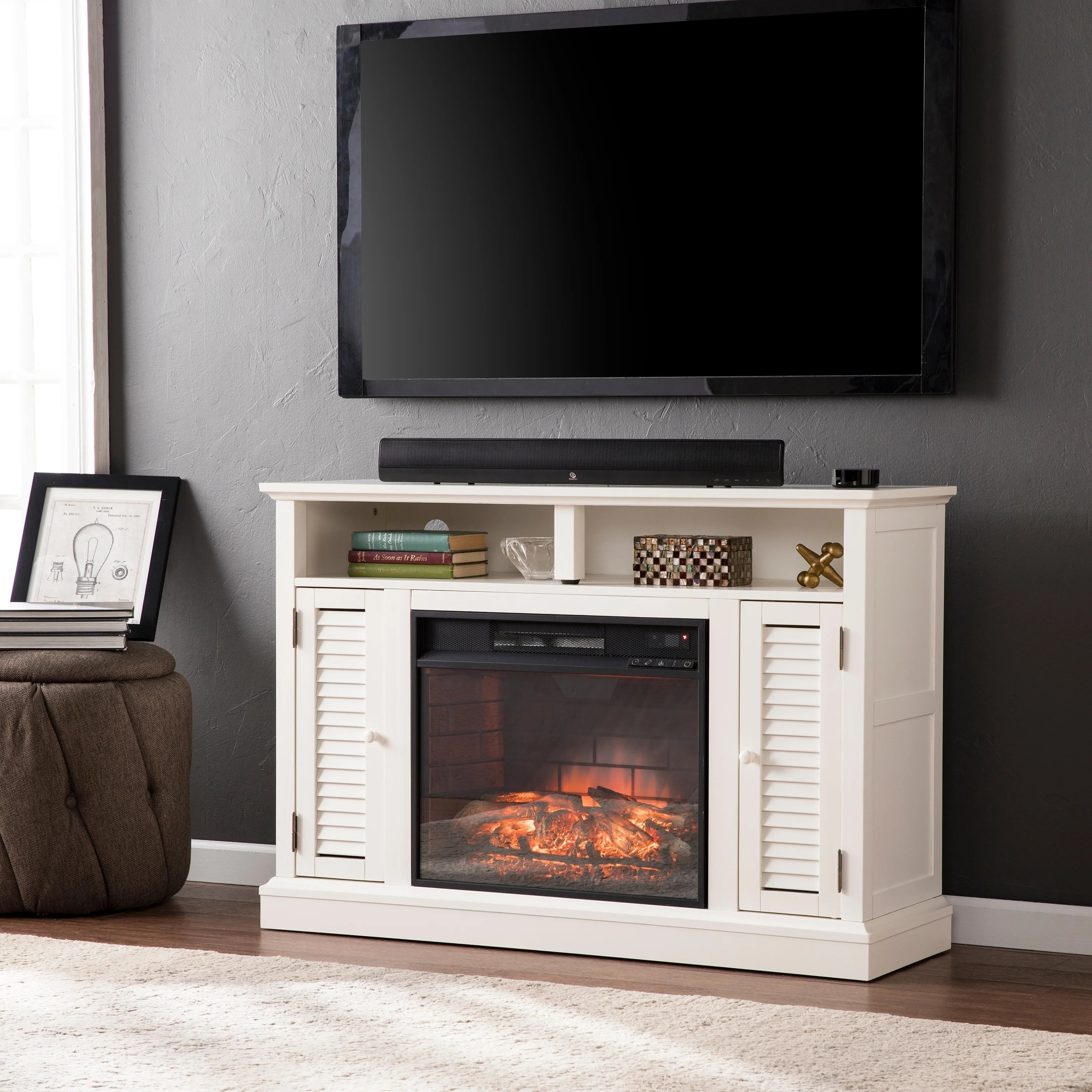Fireplace Tv Combo Buy Media Console Fireplaces Online At Overstock Our Best