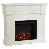 Upton Home Wellington Ivory Electric Fireplace - Overstock ...