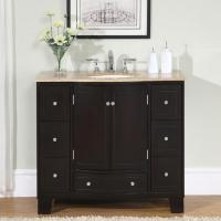 Silkroad Exclusive 40-inch Single Sink Cabinet Bathroom ...