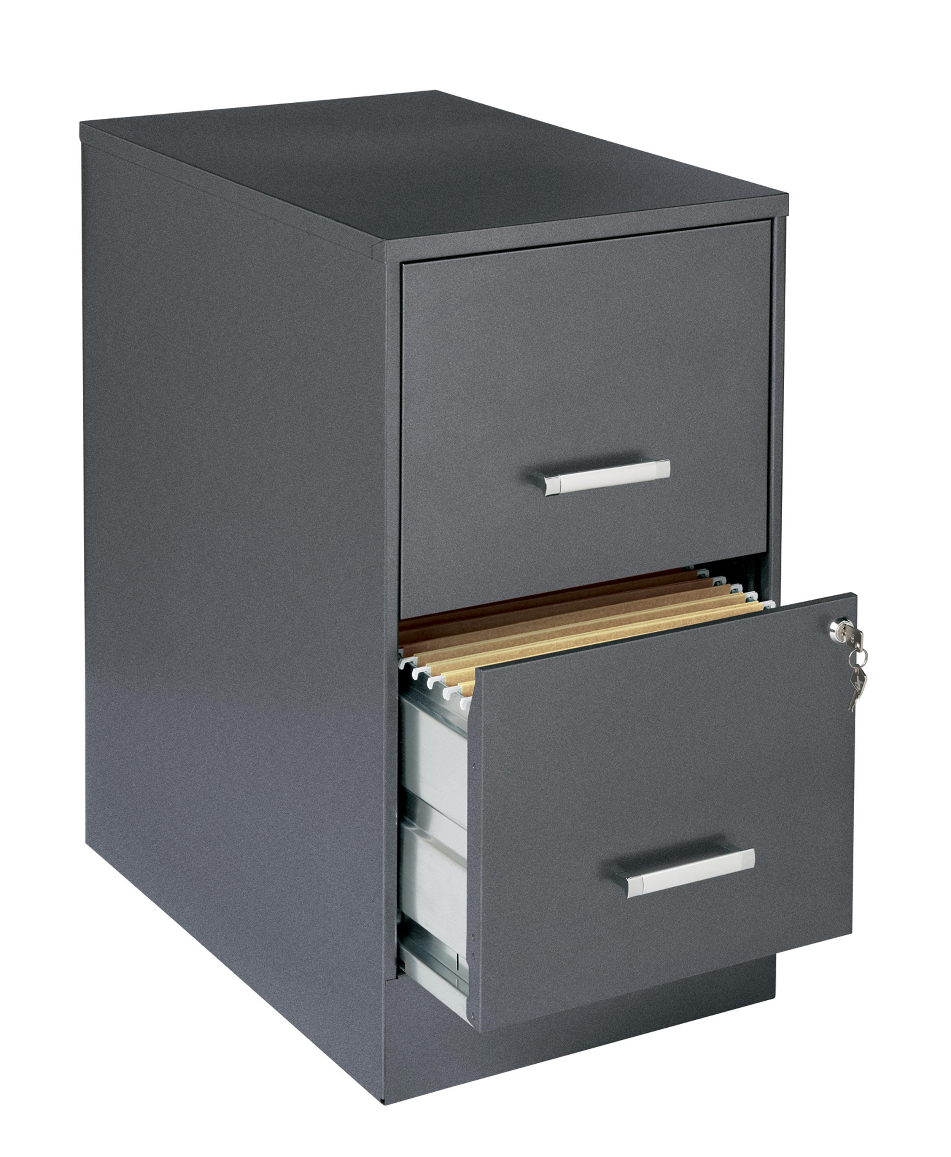 2 Drawer File Cabinet Office Designs Metallic Charcoal Colored 2 Drawer Steel