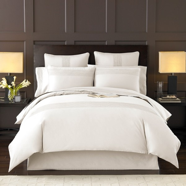 Luxury White Queen Size 3 Piece Duvet Cover Set