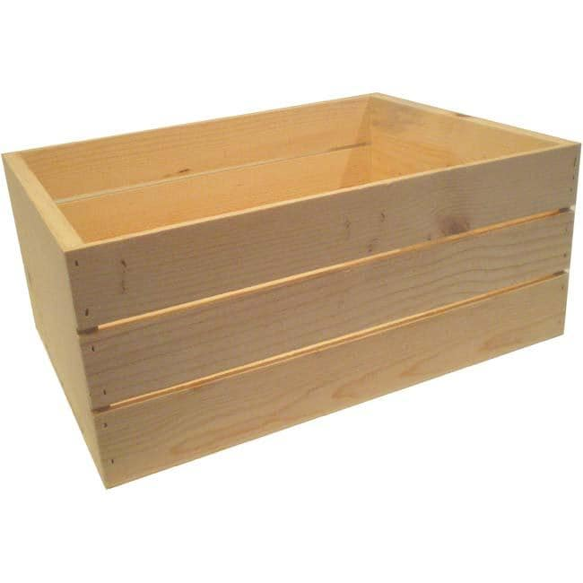 Large 22 Inch Wooden Crate 13676569 Overstockcom