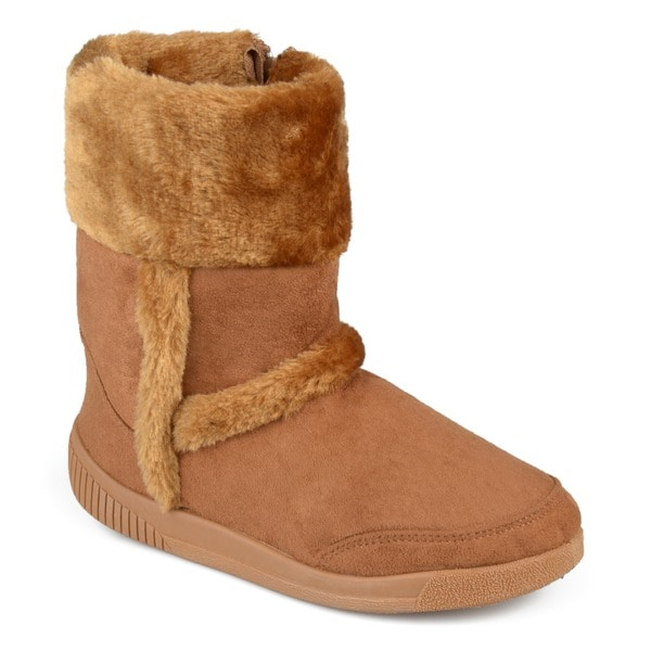 Shop Journee Kids Girl39s 39chuckie39 Faux Fur Trim Boots