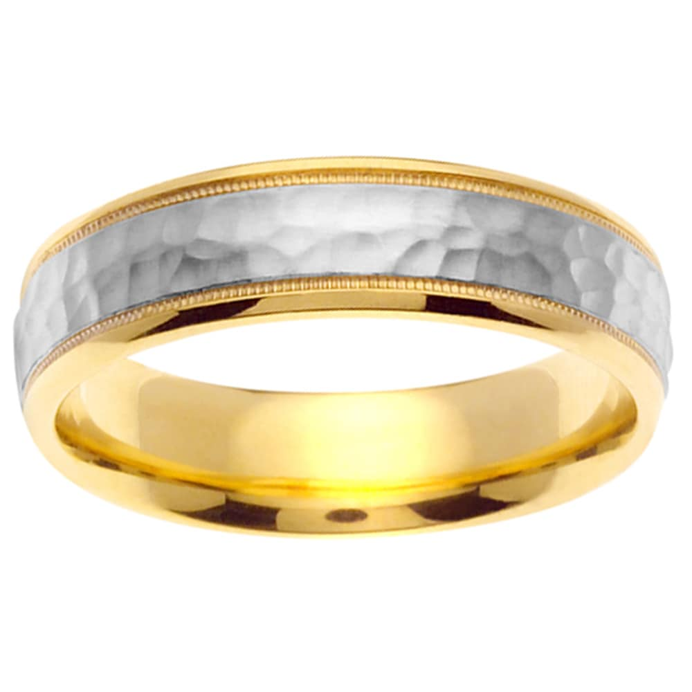 mens two tone wedding rings mens hammered wedding bands Men S Hammered Wedding Band Download