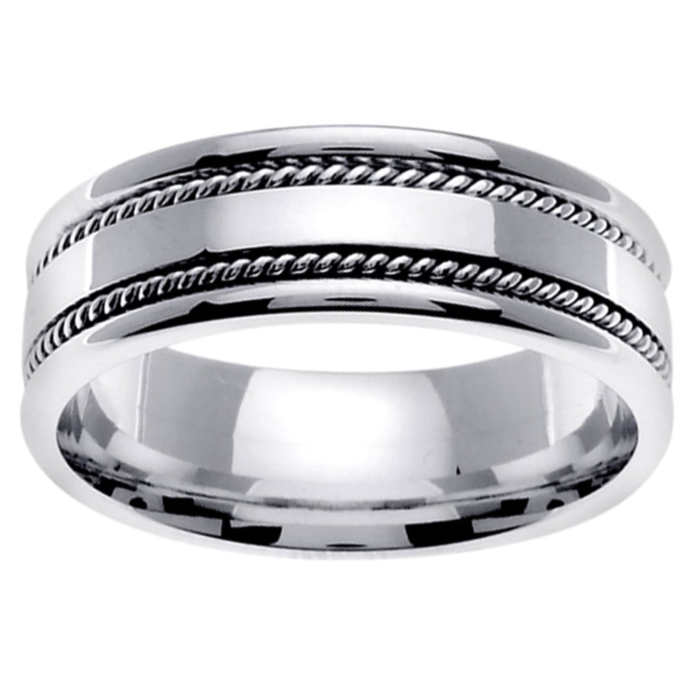 rope mens wedding rings overstock wedding rings Share Email