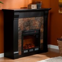 Stonegate Black Electric Fireplace - 13871300 - Overstock ...